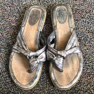 Boc pewter sandals size 8.